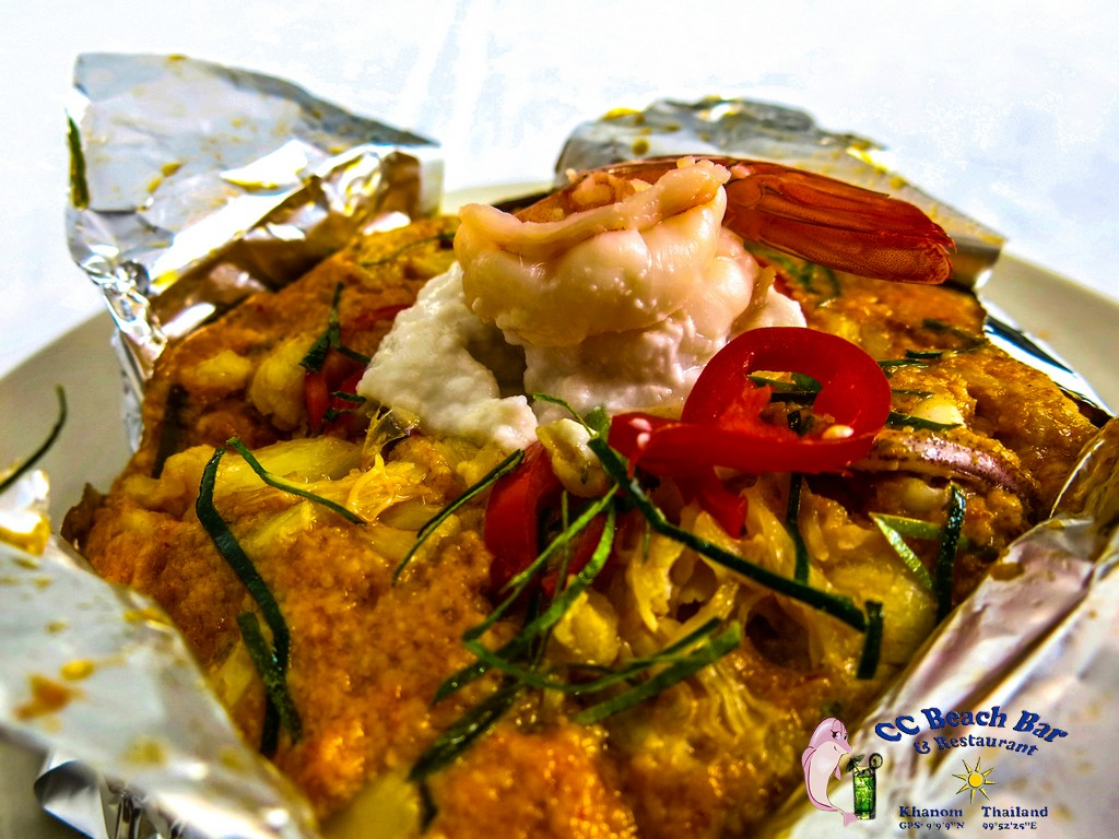 Steamed Seafood with curry paste